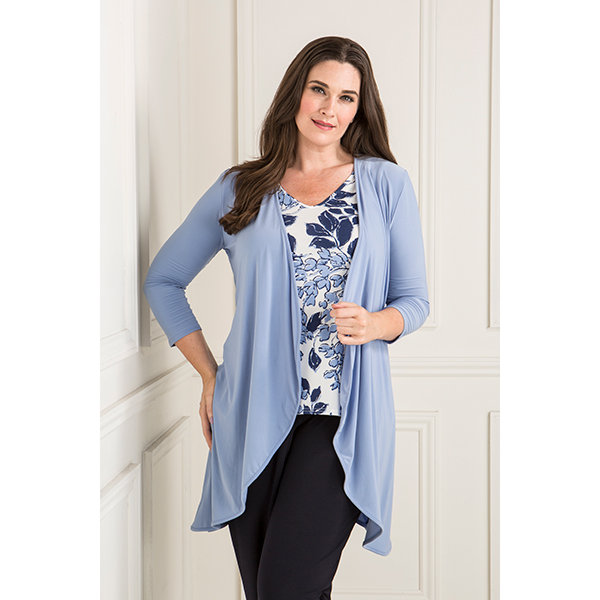 Nicole Jacket with Print Two Way Camisole Cornflower Blue