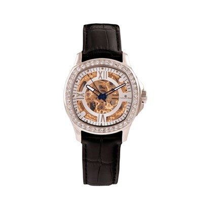 Constantin Weisz Ladies' Automatic Watch with Skeleton Dial and Genuine Leather Strap