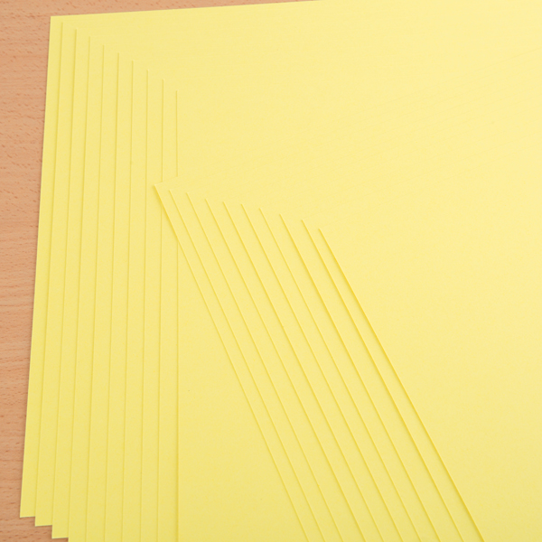 "Kanban 12"" X 12"" Craft Card 240Gsm 20 Sheet Bulk Pack Single Colour Daffodil No Colour"