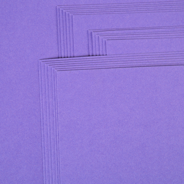 "Kanban 12"" X 12"" Craft Card 240Gsm 20 Sheet Bulk Pack Single Colour Violet No Colour"