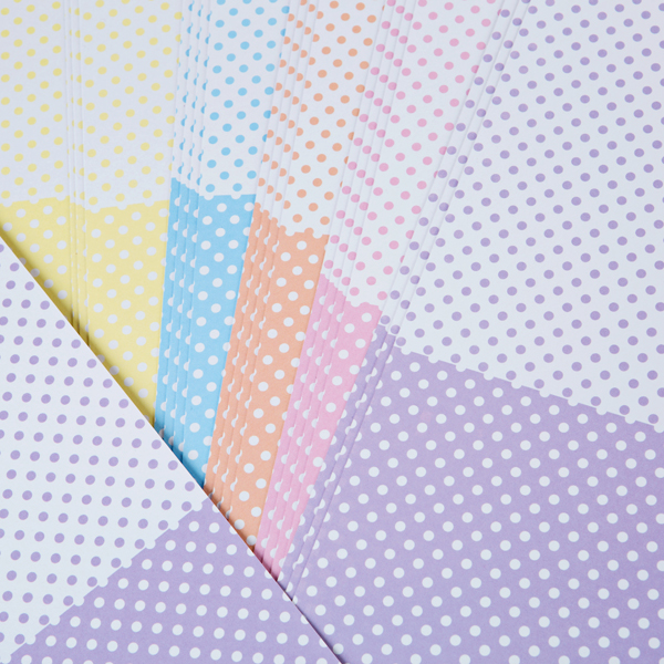 Kanban A4 Naturals Card Polka Dots 300Gsm 20 Sheet Bulk Pack Assorted Colours Assorted Pastel No Colour
