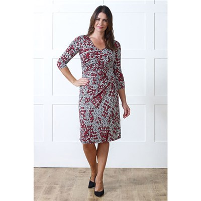 Lavitta Geo Leaf Print Dress 41in