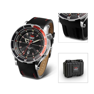 Vostok Europe Gent's Anchar Automatic Watch with Interchangeable Strap and Dry Box