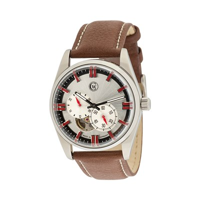 Constantin Weisz Gent's Automatic Watch with Open Heart Detail, Genuine Leather Strap and Luxury Display Box