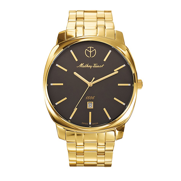 Mathey-Tissot Gent's Smart Watch with IP Plated Stainless Steel Bracelet Gold