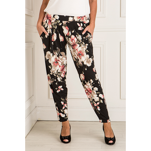Styled By Printed Tapered Trouser Blush Bouquet