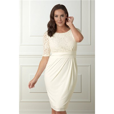 Lavitta LaceTop Jersey Dress 41in