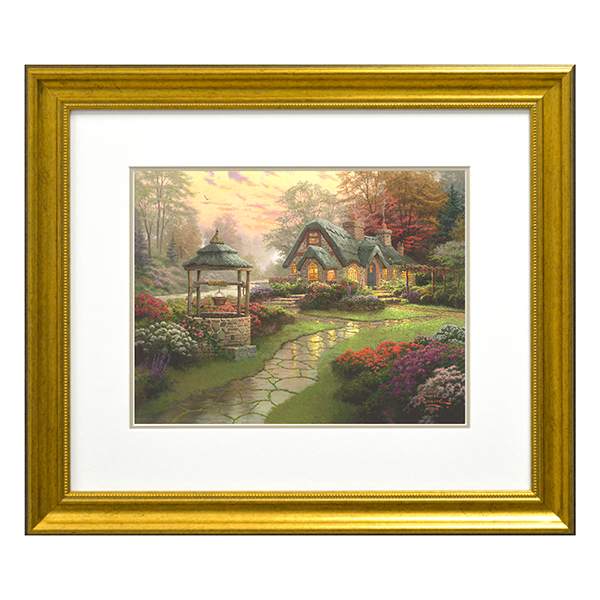 Thomas Kinkade Make A Wish Cottage Open Edition Print Traditional