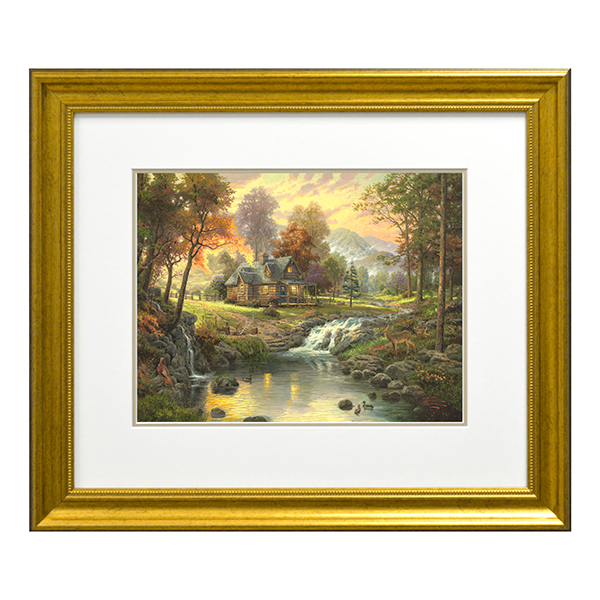 Thomas Kinkade Mountain Retreat Open Edition Print Traditional