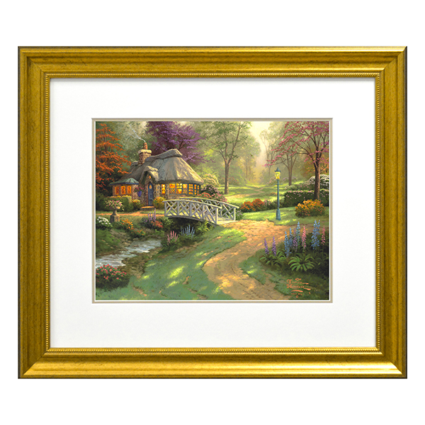 Thomas Kinkade Friendship Cottage Open Edition Print Traditional