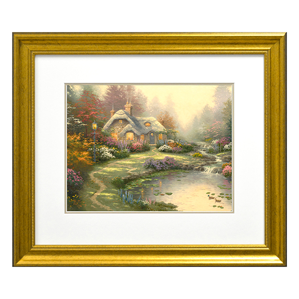 Thomas Kinkade Everettes Cottage Open Edition Print Traditional