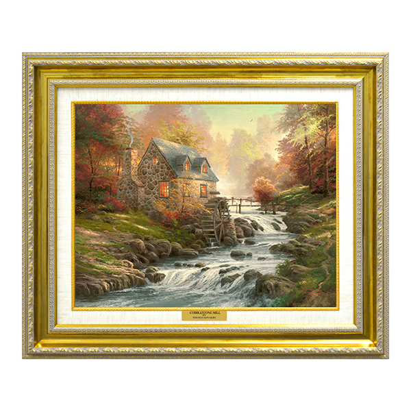 Thomas Kinkade Cobblestone Mill Open Edition Canvas Classic No Colour