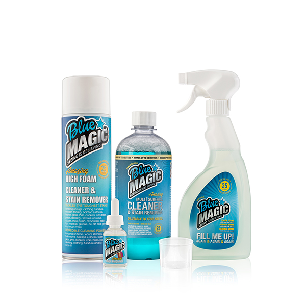 Blue Magic Concentrate, Prefilled Solution, Trigger, Foam Cleaner, Scent No Colour
