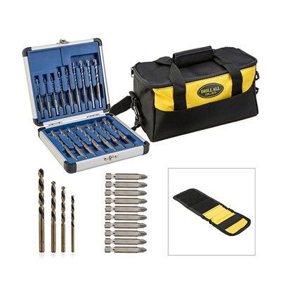 Drill Bits, Diamond Tipped and Reverse Bits, Tool Bag plus Magnetic Wristband