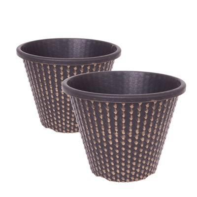 Pair of 11inch Gold Pinecone Planters