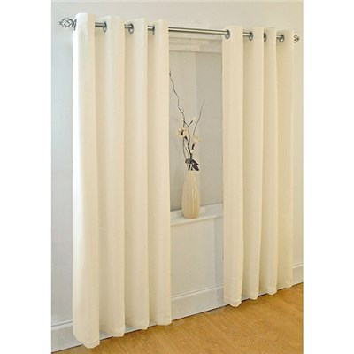 Plain Dye Ring Top (90 x 90 inches) Voile Curtains