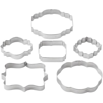 Wilton Six Piece Fondant Plaque Cut Outs