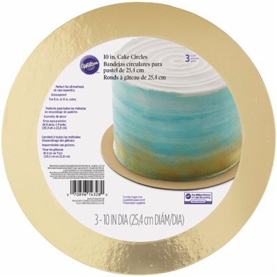 Wilton Cake Board Gold 25.4cm (10in) Contains 3