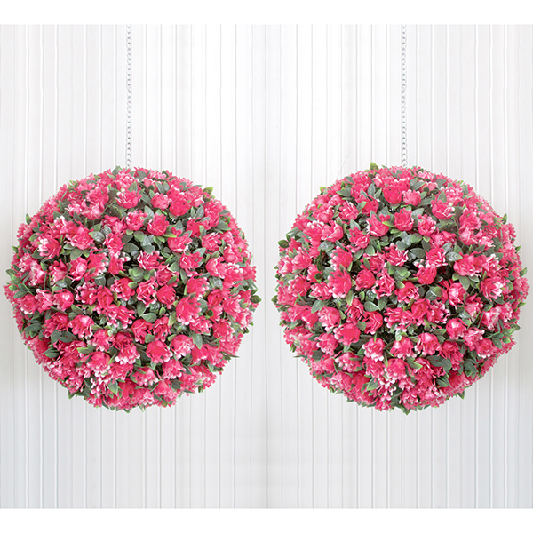 Pair 30cm Pink/Red Roser Bay Balls No Colour