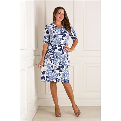Nicole Print Cowl Neck Dress