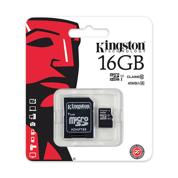 Kingston 16GB Class 10 MicroSD No Colour