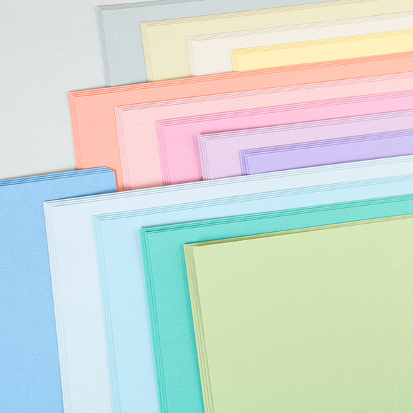 American Crafts 12x12 Pastels Cardstock - 60 Sheets No Colour