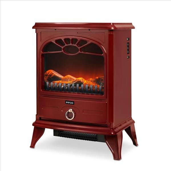 Pifco 2000W Stove Fire - Red