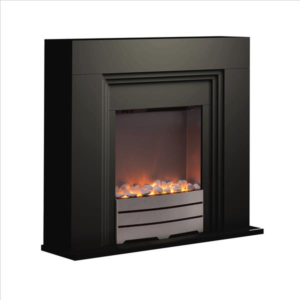 Warmlite Bluetooth Fireplace Suite - Black