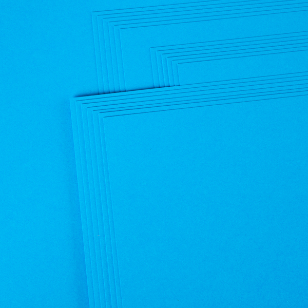 "Kanban 12"" X 12"" Craft Card 240Gsm 20 Sheet Bulk Pack Single Colour Deep Blue No Colour"