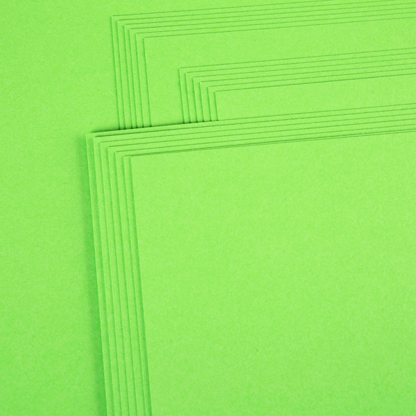 "Kanban 12"" X 12"" Craft Card 240Gsm 20 Sheet Bulk Pack Single Colour Lime No Colour"