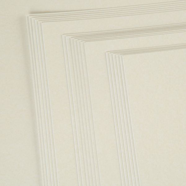Kanban A4 Pearlescent Craft Card 300Gsm 20 Sheet Bulk Pack Single Colour Fresh Cream No Colour