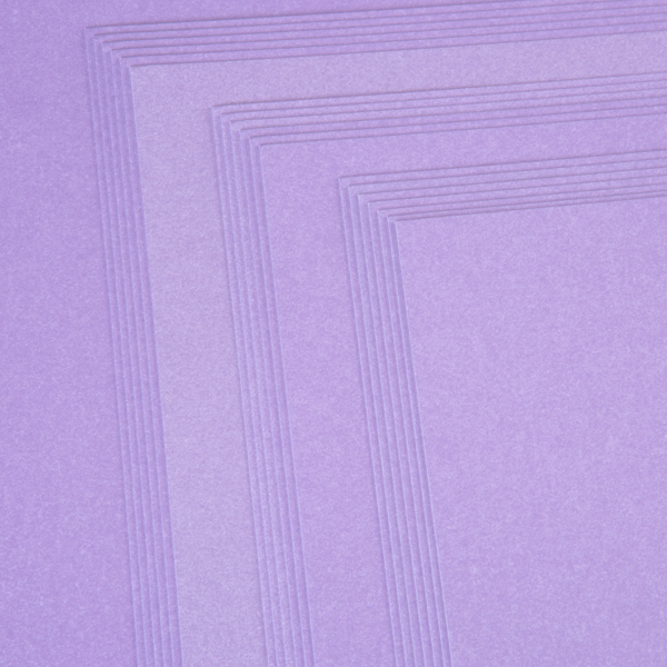 Kanban A4 Pearlescent Craft Card 300Gsm 20 Sheet Bulk Pack Single Colour Purple No Colour