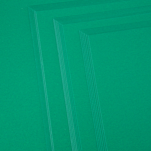 Kanban A4 Pearlescent Craft Card 300Gsm 20 Sheet Bulk Pack Single Colour Xmas Green No Colour