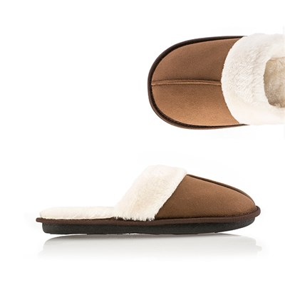 Ladies' Faux Fur Memory Foam Slippers