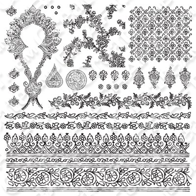 Iron Orchid Designs Bohemian 12x12 Stamp Set
