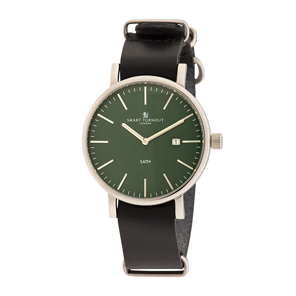 Smart Turnout London Gent's Duke Watch with Leather Strap Green