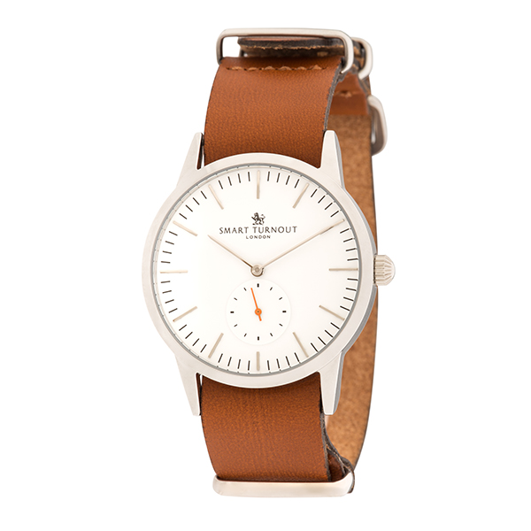 Smart Turnout London Gent's Signature Watch with Leather Strap White