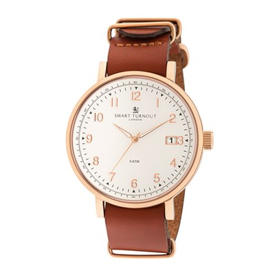 Smart Turnout London Gent's Scholar Watch with Leather Strap