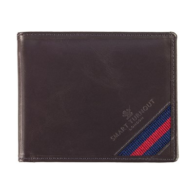 Strap Front Leather Wallet