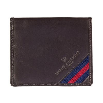 Strap Front Leather Card Holder