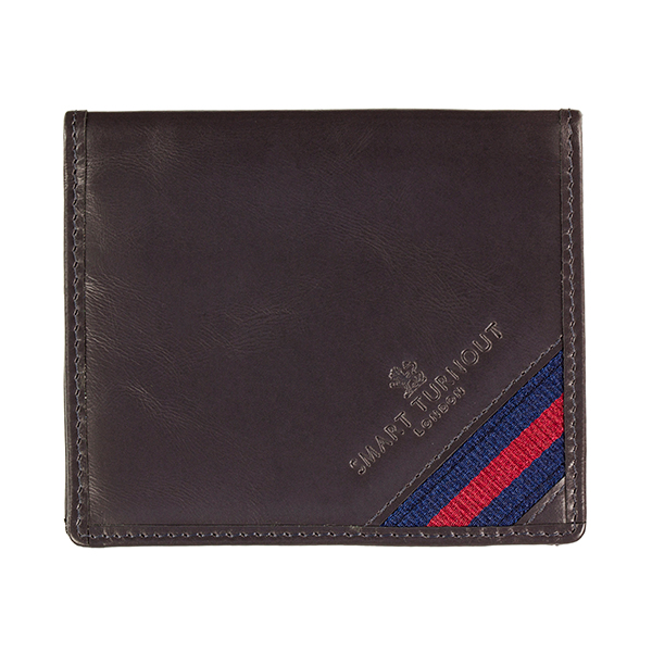 Strap Front Leather Card Holder Household Division