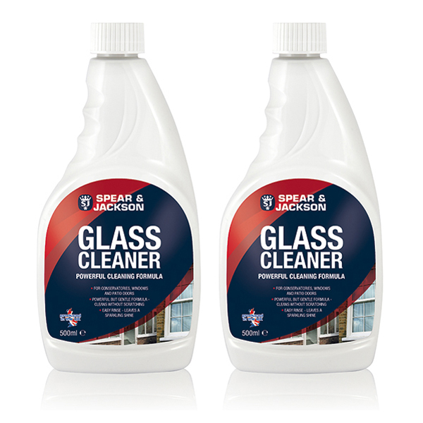 Spear & Jackson 2x 500ml Glass Cleaner No Colour