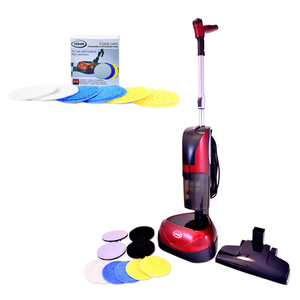 Ewbank Floor Polisher and Vacuum Total Floor Care Solution with Refill Pack No Colour