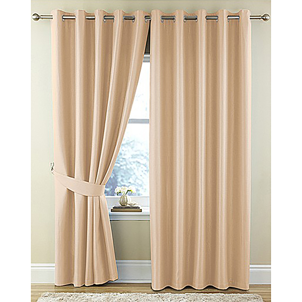 Waffle Ring Top (46 inches x) Curtains Cream