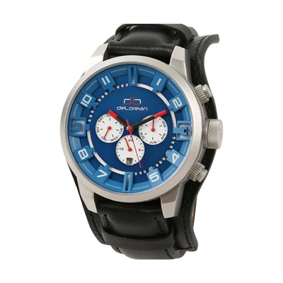 deLorean Gent's Limited Edition Slick Pit Stop Automatic Watch with Genuine Leather Strap