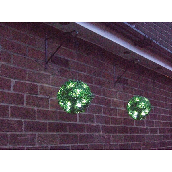 Pair 23cm Solar Hang Bay Balls No Colour