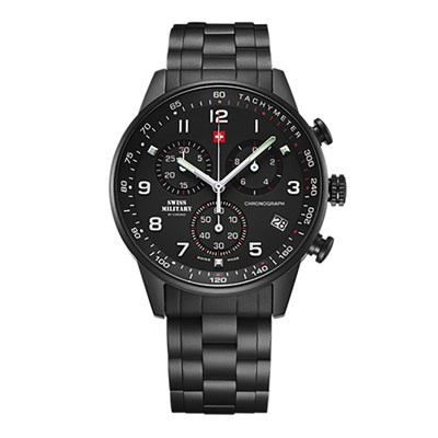 Swiss Military Gent's Chronograph with Stainless Steel Bracelet