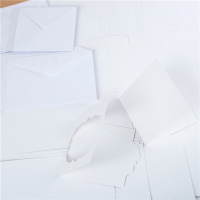 Kanban Ultra White Embossed Christmas Aperture Cards and Envelopes