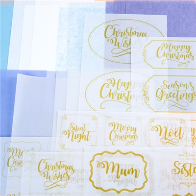 Kanban Vellum Foiled Wraps and Topper Tip Ons