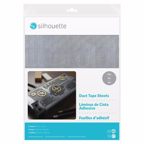 Silhouette Duct Tape Sheets - Size 8.5 x 11 - Grey No Colour